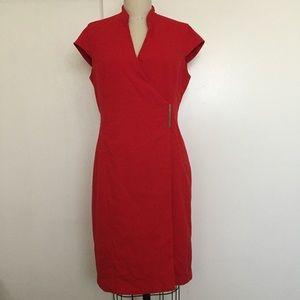 Calvin Klein Deep Red Wrap Dress